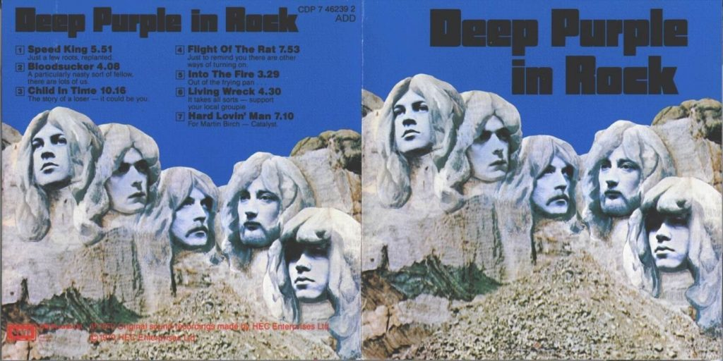 Deep Purple In Rock deplié