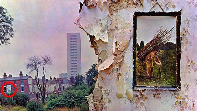 Led Zeppelin IV pochette avec affiche cachée