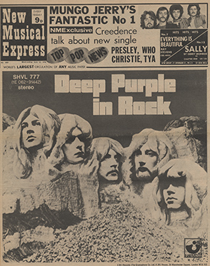 La une du NME (Deep  Purple In Rock)