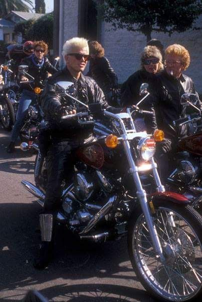 Billy Idol on Harley Davidson