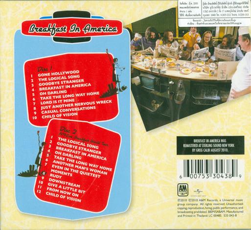 Breakfast in america back cover