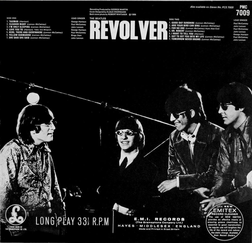 beatles revolver back