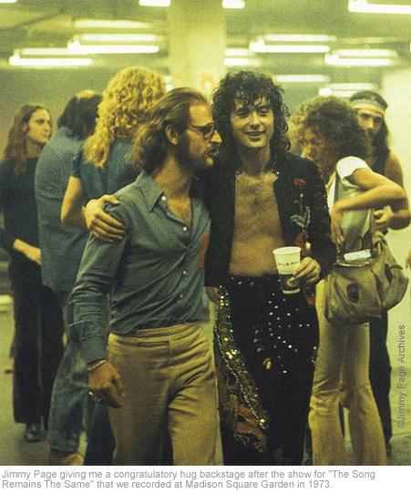 Jimmy Page et Eddie Kramer en 1973